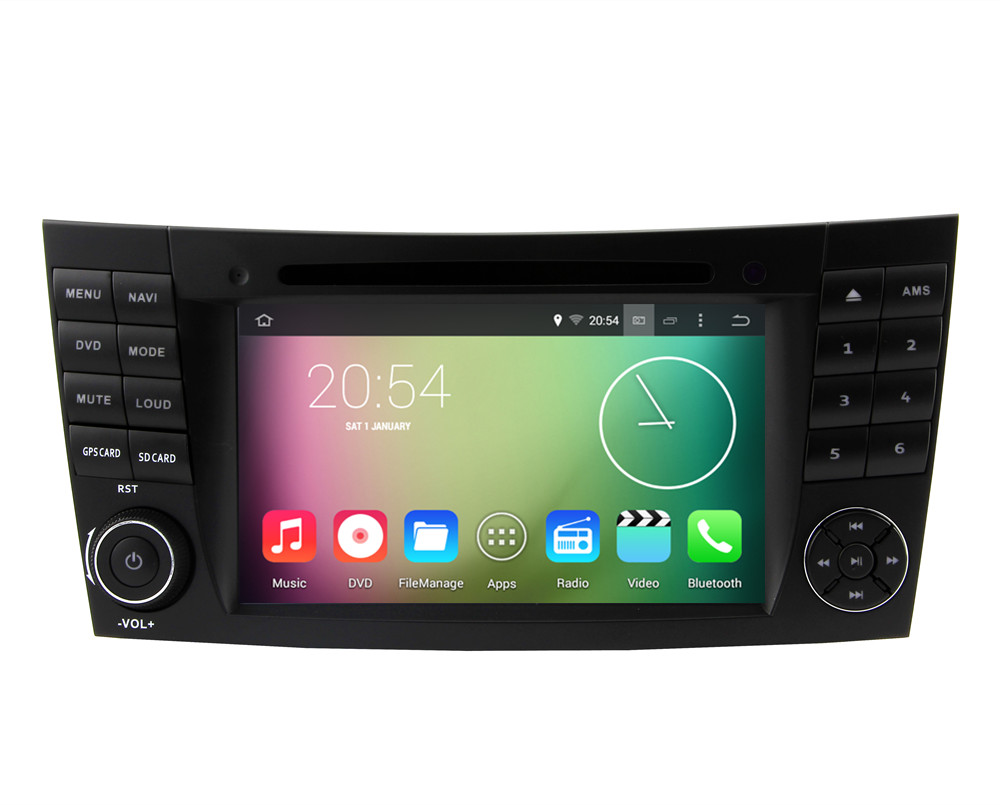 """Android 4.4.4 HD 1024*600 Quad core 1.6GHz CPU Nand Flash 16GB 7"""" Car DVD Player For Benz W211/CLS W219/G W463/CLK W209(China (Mainland))"""