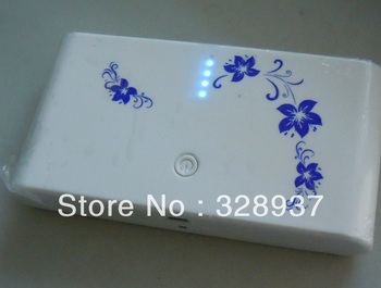 20pcs Free shipping 20000 mah universal power bank, USB external battery charger double USB output and Oriental flower!