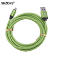 25cm 1m 2m 3m Nylon Braided Micro USB Charging Cable Sync Data Cord for Samsung S3