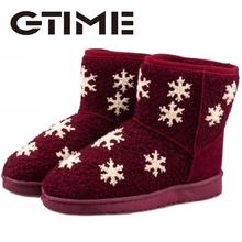 2016 Nueva Corea Del Sur material de deslizamiento de nieve botas de mujer botas bajas de nieve de algodón caliente zapatos de moda # XDX31(China (Mainland))
