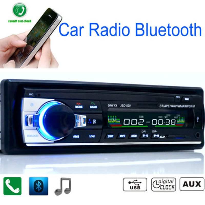 Car Radio Bluetooth Handsfree Support USB SD MMC Port 12V Car Stereo FM Radio MP3 Audio
