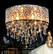 Modern Luxury K9 Round Crystal Chandelier Lustres de crystal Ceiling lamp European Style Home Decorative Light Fixture Lamp(China (Mainland))