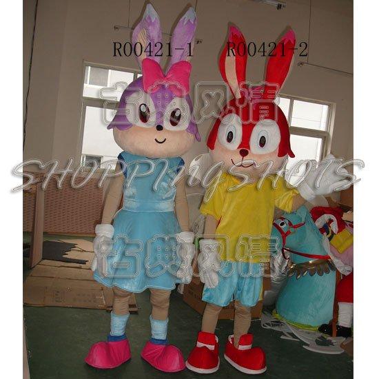 Lucky Rabbit Mascot Costume Fancy Dress cartoon R00421 adult size(China (Mainland))