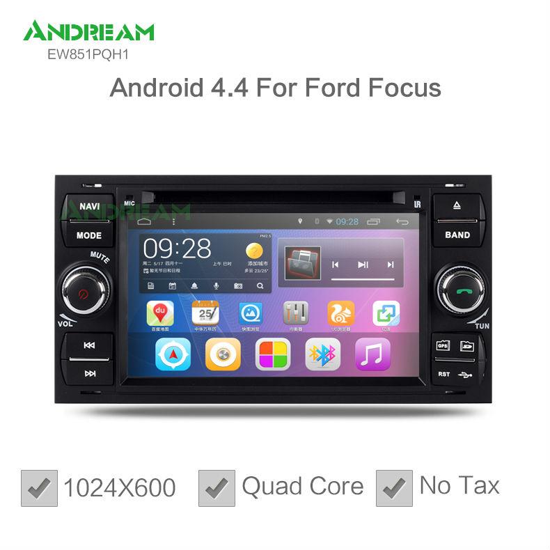 Quad Core Car DVD Player Stereo Android 4.4 gps navigation For Ford Mondeo Focus S-max C-max Galaxy Fiesta Fusion Kuga EU ship(China (Mainland))