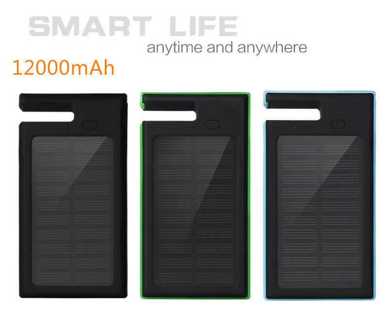 2016 NEW ES900 12000mAh Portable solar power bank Brand Powerbank backup Power Supply battery Power charger for all mobile phone(China (Mainland))
