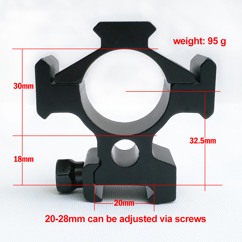 Best 30mm 6061 aluminum scope mounts rings for 20-28mm can be adjusted weaver picatinny rail hunting mounts(China (Mainland))