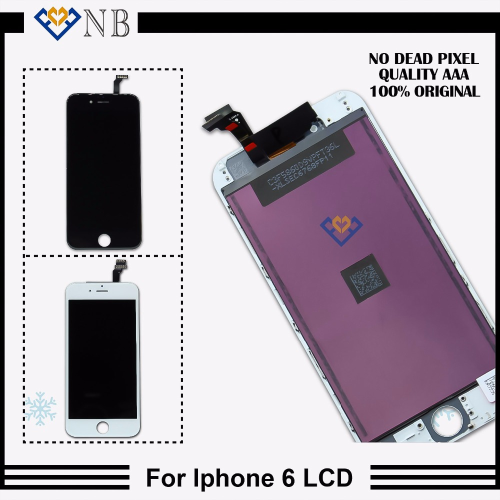 Hot Sale 4.7'' Mobile Phone Parts For Iphone 6 LCD Display + AAA Touch Screen Digitizer Replacement No Dead Pixel 10PCS/LOT(China (Mainland))