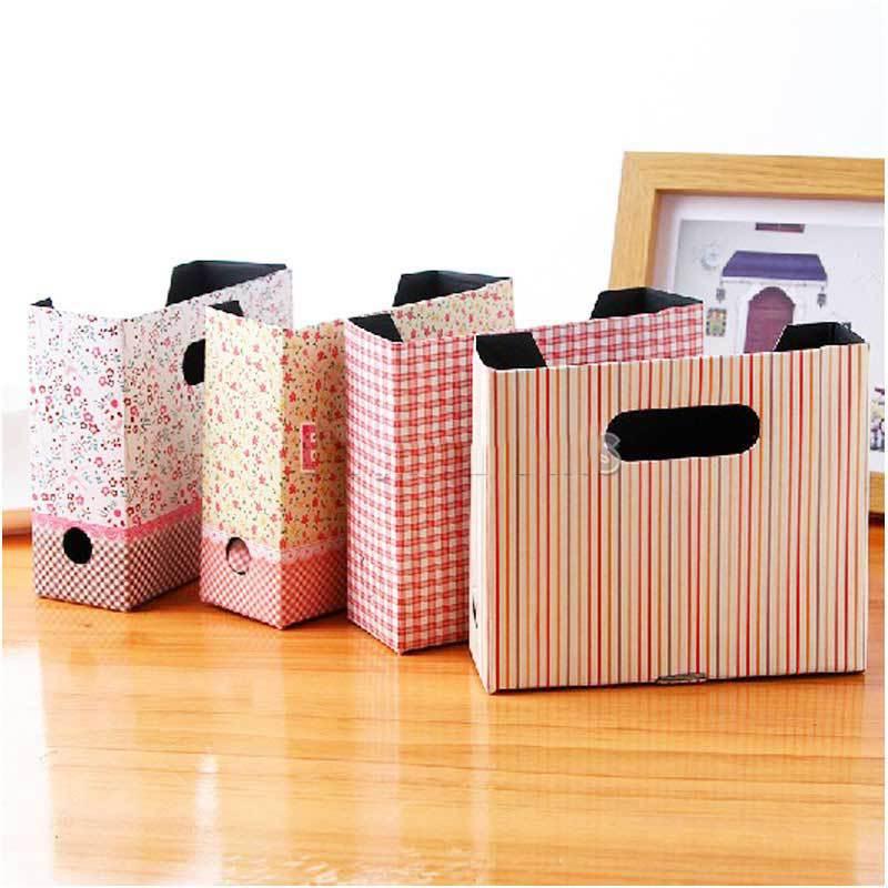 BulkPrice Shop Cute DIY Cosmetic Stationery Paper Board Storage Makeup Box Desk Decor Organizer(China (Mainland))