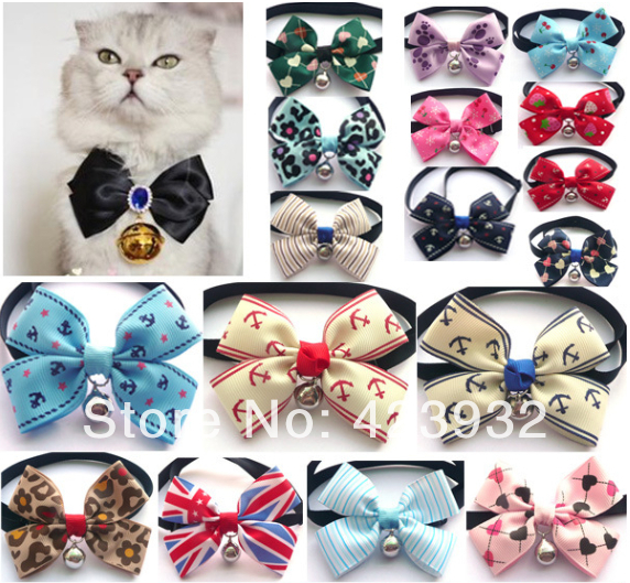 Pet accessories teddy VIP Yorkshire xi shi Cat neckties lovely bowknot dog tie collars xx(China (Mainland))