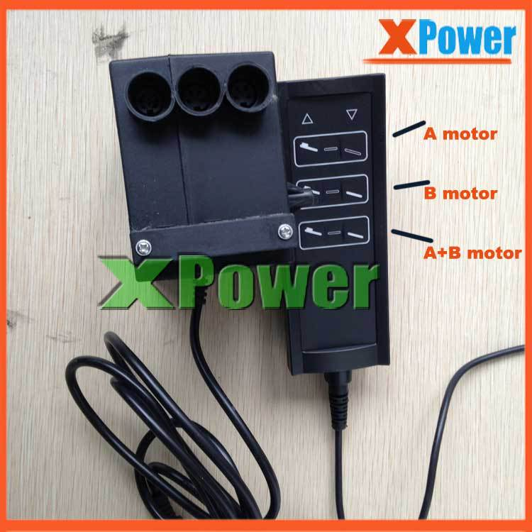 Wholesale XPower 3 Groups Control Model For 2 pieces 24v Linear Actuator Tubular Motor Power Supply With Cable Controller<br><br>Aliexpress