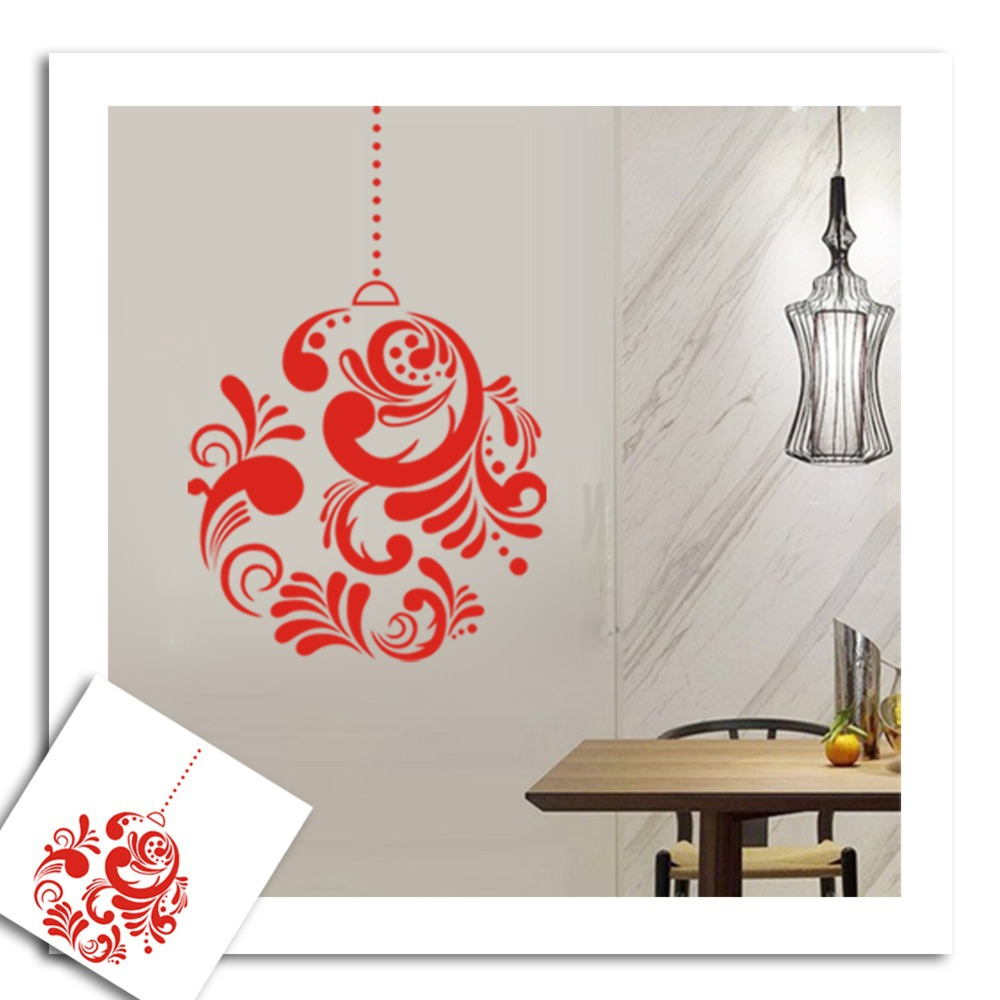 Buy christmas decor diy wreath droplightstickers wall decal removable art vinyl Home decor survivor 6
