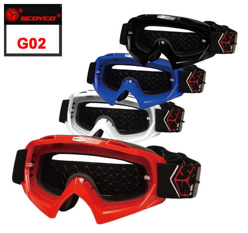 2015 High Quality Carbon fiber frame Motocross Goggles Scoyco G02 motorcycle glasses Silicone Sport Goggle Racing Protective(China (Mainland))