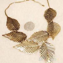 Trendy Women Bohemia Leaves Leaf Multilayer Pendant Chain Bib Choker Necklace Jewelry 1FZR
