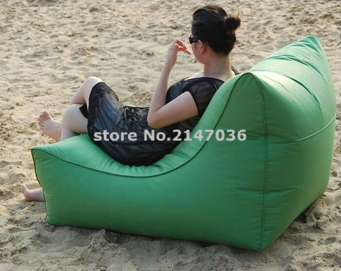 LARGE Space and Wide waterproof outdoor bean bag chair with high back support, backing portable beanbag sofas(China (Mainland))