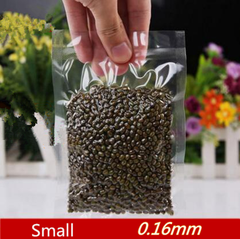 0.16mm Small Size Vacuum Hot Seal Food Storage Bags Vacuum Pack Pouches Clear Color Smooth Surface Plastic Food Vacuum Bags(China (Mainland))