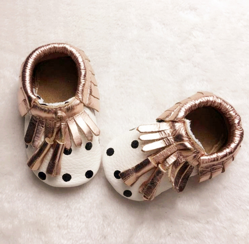 New Genuine Leather soft soles Baby Moccasins shoes fringe Baby Shoes girls boys Newborn first walker Infant Shoes baby boots(China (Mainland))