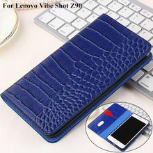 Crocodile Patter Wallet PU leather Case Cover For Lenovo Vibe Shot Phone Case For Lenovo Vibe Shot Z90 Case