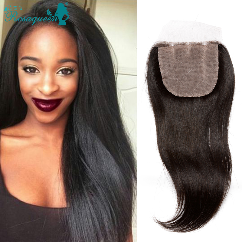 Unprocessed Peruvian Virgin Hair 6A Silk Base Closure Free/Middle/Three Part Straight 4x4 Silk Base Size With Baby Hair<br><br>Aliexpress