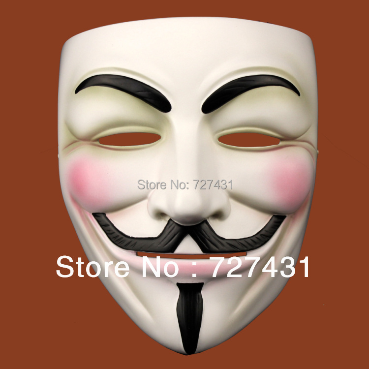 High Quality Resin V for Vendetta Team Guy Fawkes Men Masquerade Party Carnival Mask for Collection Gift Exquisite Packing(China (Mainland))