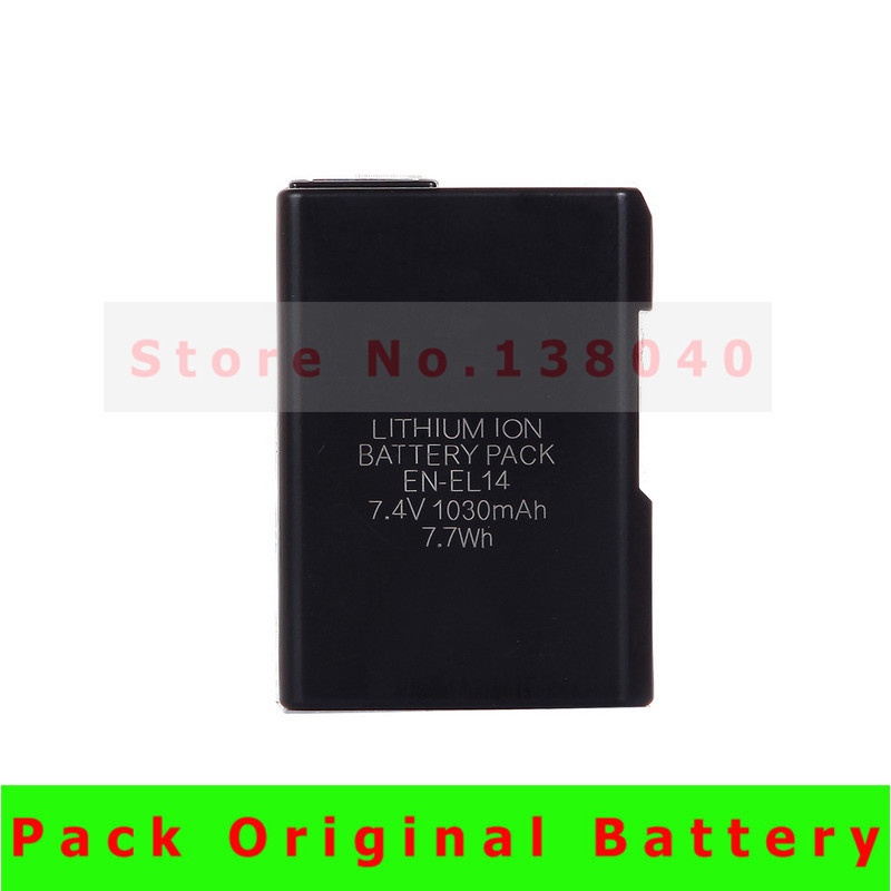 EN EL14 Digital Camera Battery Pcak EN EL14 ENEL14 Batteries for Nikon Dslr D3100 D5100 D5200