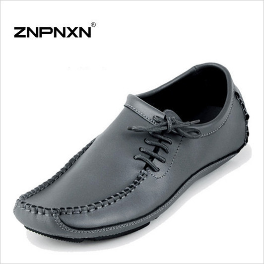 Hot Sale Men Leather Shoes New Fashion 2015 Men Casual Flat Spring And Autumn Genuine Leather Oxford Shoes sapatos masculinos