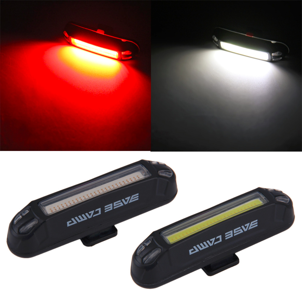 100 Lumens Bicycle Bike Head Front Rear Tail LED Light USB Rechargeable free shipping<br><br>Aliexpress