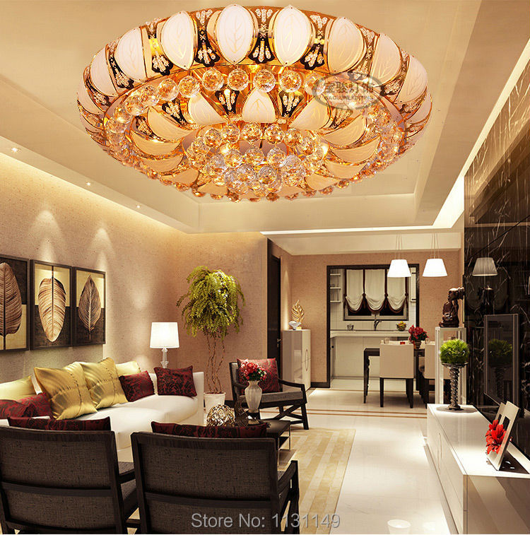 Потолочный светильник LTCELE lamparas sala de techo jantar LT-ceiling lamp gorgeous lotus flower ceiling light crystal lampshade ceiling lamp for living room bedroom lustres lamparas de techo abajur