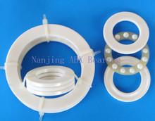 Free shipping 51100 ZrO2 full ceramic thrust ball bearing 8100 10x24x9 mm no magnetic bearing(China (Mainland))