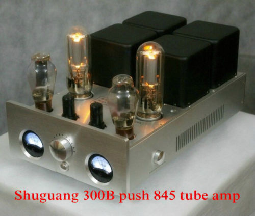Shuguang SG-845 300B push 845 single-ended Class A hifi tube amplifier 20W+20W(China (Mainland))