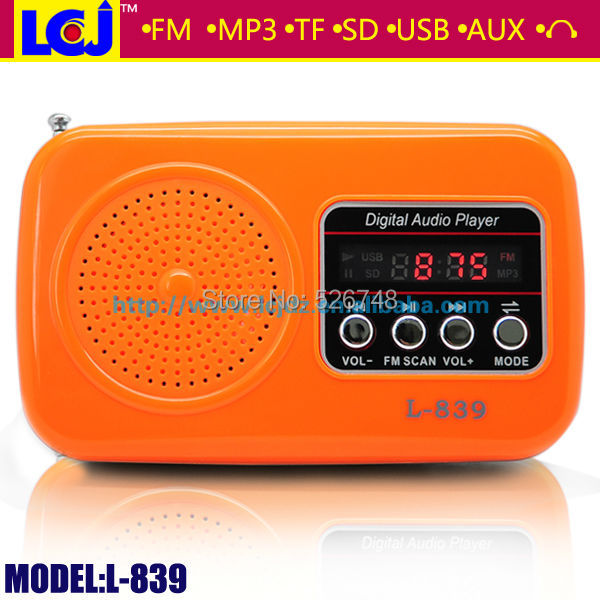 Free shipping factory price L-839 hifi radio speaker for your computer with FM radio MP3 player micro sd tf usb(China (Mainland))