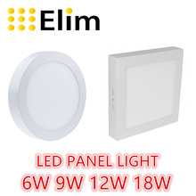 free shipping LED panel light  round square 6W 12W 18W 24W ceiling recessed grid downlight(China (Mainland))