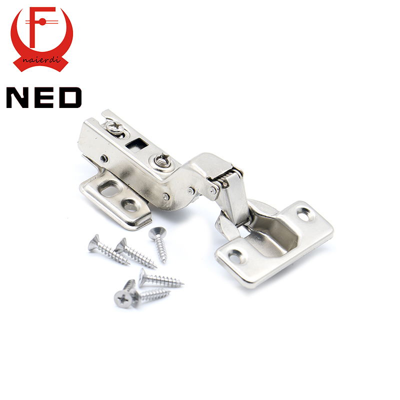 NED C Series Hinge Stainless Steel Door Hydraulic Hinges Damper Buffer Soft Close For Cabinet Cupboard Furniture Hardware(China (Mainland))