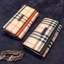 2015 women wallet PU leather long purse famous brand coin purse cluth Hasp Panelled Vintage free
