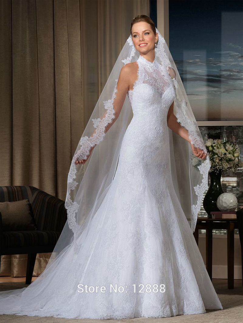 Aliexpress Buy Open Back White Lace Wedding Dress