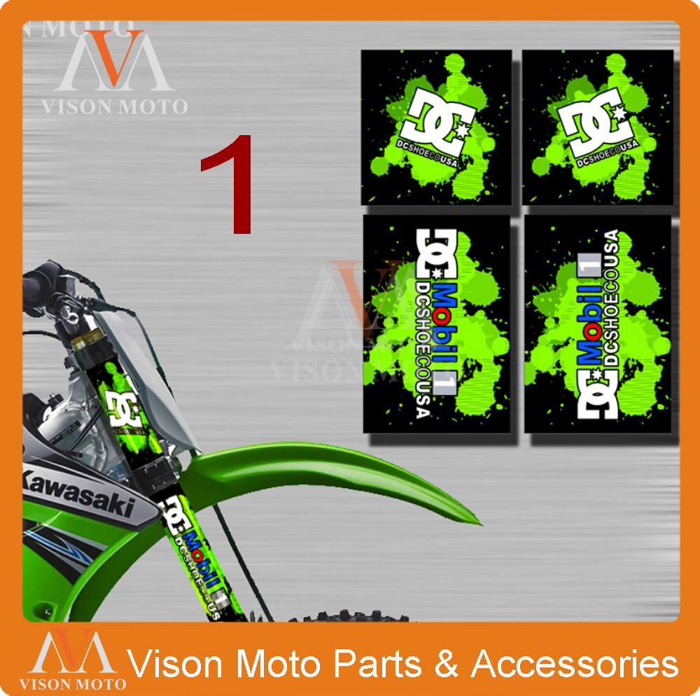 UNIVERSAL 3M UPSIDE DOWN FORKS DECALS SHOCK STICKERS SETS For KAWASAKI KX KLX 65 85 125 250 450 KX125 KX250 KX450F DIRT BIKE(China (Mainland))