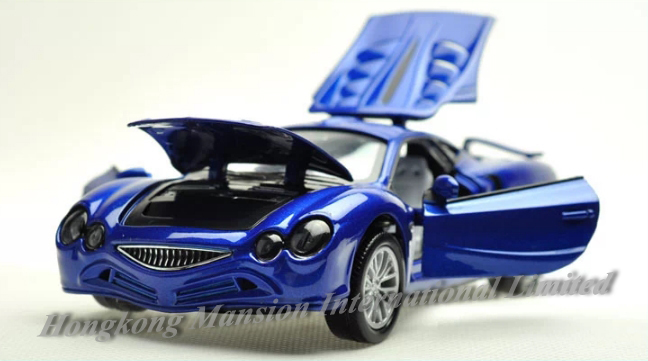 1:32 Scale Alloy Metal Diecast Car Model For MITSUOKA OROCHI Collection Model Pull Back Toys Car With Sound&Light(China (Mainland))