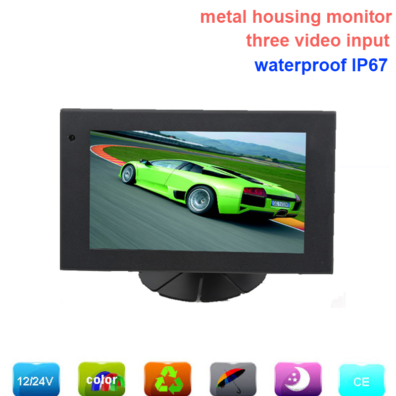 3CH 7 inch digital LCD monitor with metal housing, waterpoof IP67, ideal for heavy duty vehicles rear view, in harsh environment<br><br>Aliexpress