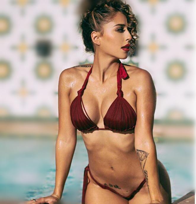 Sexy Push up bikini 2016 women brazilian bikini thong bottom maillot de bain big cup bathing suit top bandage swimwear fringe(China (Mainland))