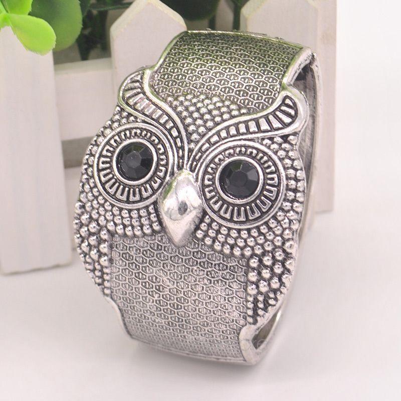 2015 Retro Personalized Owl Style Alloy Bracelet Women's Silver Bronze Bangle Cuff Ladies Jewelry J*60CMHM594#M6 - Super Star---Fashion Andy's Store store