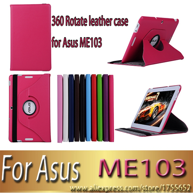 For Asus MeMO Pad 10 ME103K ME 103K 10 1 inch 360 rotate Litchi magnetic pu