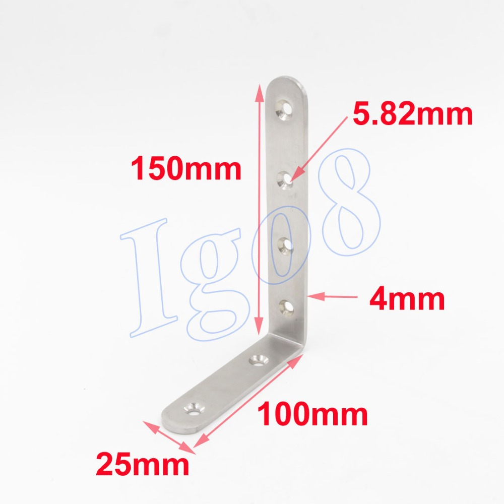 2pcs High Quality 150mm Angle Bracket 2pcs Stainless Steel<br><br>Aliexpress