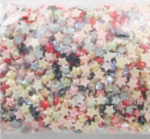 Wholesale 1000pcs/bag mix colors ABS star,DIY set,DIY hair ornament accessories,card making & scrapbooking,DIY crafts,handcraft