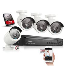 ANNKE 4CH NVR 960P PoE IP Network CCTV Surveillance Security Camera System 1TB