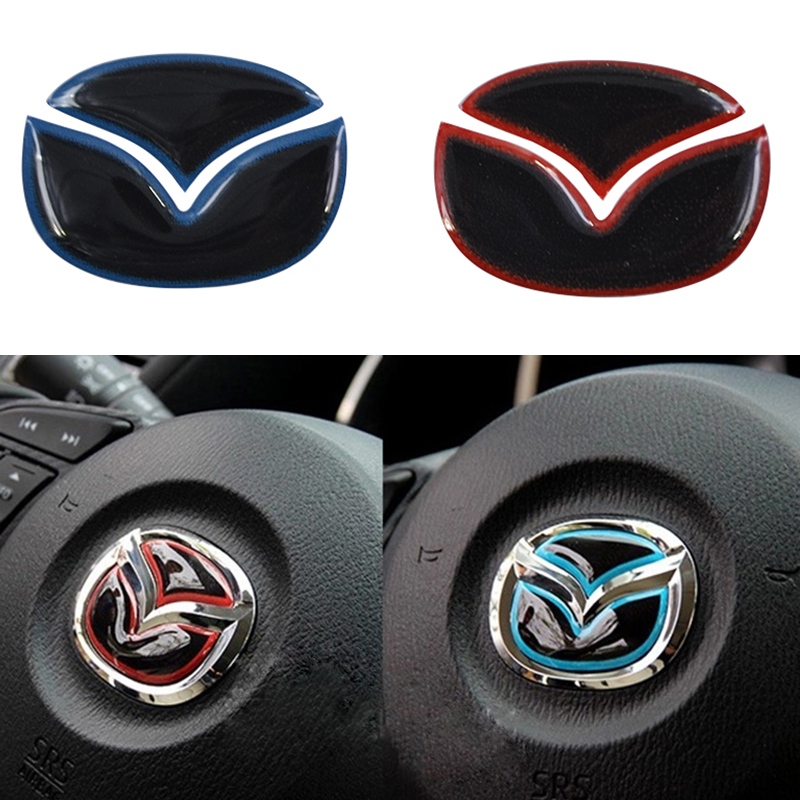 Car Steering Wheel Emblem Sticker For Mazda CX-5 CX5 Axela Atenza CX-7 CX-9 <br><br>Aliexpress