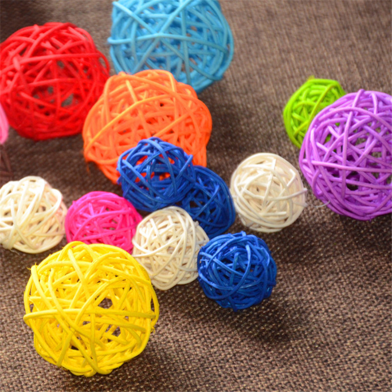 Hot 12pcs/lot 3cm/5cm birthday party decor Wedding decoration Rattan Ball Christmas Decoration DIY Thailand style string lights(China (Mainland))