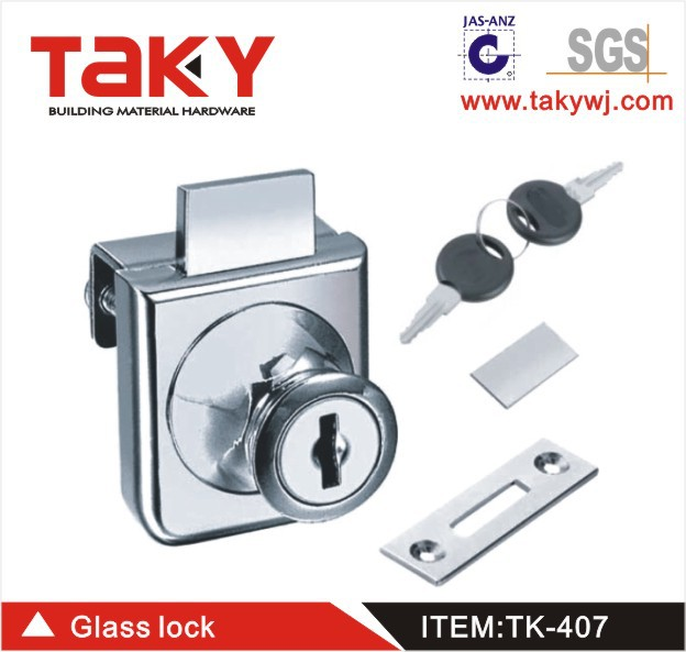 TK-407 HOT SALE zinc alloy glass drawer lock(China (Mainland))