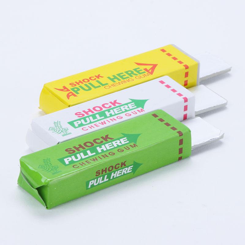 Electric Shocking Chewing Gum Toy Gift Shock Joke Gadget Prank Funny Trick Gag(China (Mainland))
