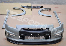 GTR35 Unpainted Grey Primer FRP body kit With Carbon Fiber Diffuser Auto Car Styling Body Kits for Nissan GTR35(China (Mainland))