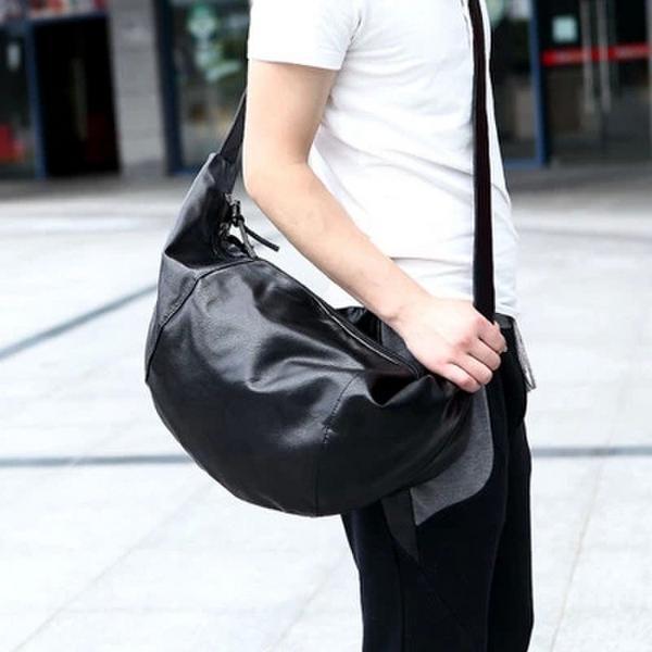 Free shipping 2015 men's casual pu shoulder travel bag Messenger bag sports bag large capacity(China (Mainland))