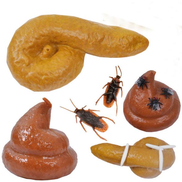 Halloween Amazing Turd Gag Gift Realistic Fake Turd Flies Cockroachs Classic Joke Funny Gadgets Creative Products Fake Poop Toys(China (Mainland))